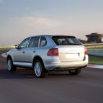 Porsche Cayenne S 2004 1600x1200 wallpaper Rear angle view