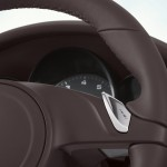 Sand White Porsche Cayenne S Hybrid 2011 3000x1560 wallpaper Interior Steering wheel