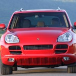 Red Porsche Cayenne S Titanium 2006 1600x1200 wallpaper Front view