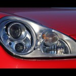 Red Porsche Cayenne S Titanium 2006 1600x1200 wallpaper Head light