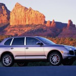 Porsche Cayenne Turbo 2004 1600x1200 wallpaper Side