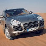 Umber Metallic Porsche Cayenne Turbo S 2006 1600x1200 wallpaper Front view