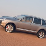 Umber Metallic Porsche Cayenne Turbo S 2006 1600x1200 wallpaper Side view