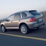 Umber Metallic Porsche Cayenne Turbo S 2006 1600x1200 wallpaper Side angle view