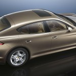 Cognac Metallic Porsche Panamera 4 2011 wallpaper Side angle top view