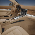 Cognac Metallic Porsche Panamera 4 2011 wallpaper Interior