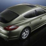 Cristal Green Metallic Porsche Panamera S Hybrid 2011 wallpaper Side angle top view