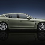Cristal Green Metallic Porsche Panamera S Hybrid 2011 wallpaper Side view