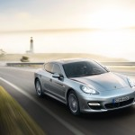 GT Silver Metallic Porsche Panamera Turbo 2011 wallpaper Front angle view