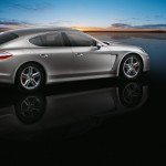 GT Silver Metallic Porsche Panamera Turbo 2011 wallpaper Side view