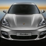 GT Silver Metallic Porsche Panamera Turbo 2011 wallpaper Front view