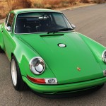 2011 Singer Racing Green Porsche 911 Front angle view