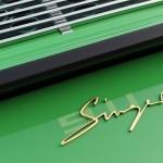 2011 Singer Racing Green Porsche 911 Rear view Sign