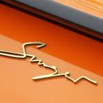 Singer Racing Orange Porsche 911 Sign