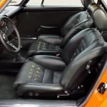 Singer Racing Orange Porsche 911 Interior
