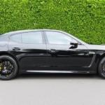 Sylvester Stallone's 2010 black Porsche Panamera 4S Side view