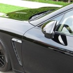 Sylvester Stallone's 2010 black Porsche Panamera 4S Side view mirror