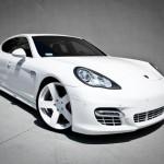 Rob Dyrek's 2010 white Porsche Panamera Turbo