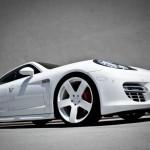 Rob Dyrek's 2010 white Porsche Panamera Turbo Front angle view