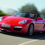 2008 Red Porsche Boxster wallpaper Front angle side view