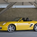 2008 Yellow Porsche Boxster wallpaper Side view