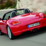 2008 Red Porsche Boxster wallpaper Rear view