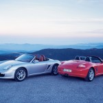 2008 Porsche Boxster wallpaper Rear and front view Two Porsches