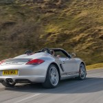 2010 Silver Porsche Boxster Spyder wallpaper Rear angle view