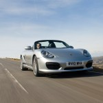 2010 Silver Porsche Boxster Spyder wallpaper Front angle view