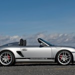 2010 Silver Porsche Boxster Spyder wallpaper Side view