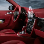 2011 Black Porsche 911 Carrera 4 Wallpaper Red interior