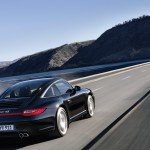 2011 Black Porsche 911 Targa 4S Wallpaper Rear angle side view