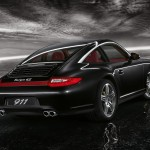 2011 Black Porsche 911 Targa 4S Wallpaper Rear angle view