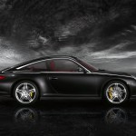 2011 Black Porsche 911 Targa 4S Wallpaper Side view