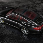 2011 Black Porsche 911 Targa 4S Wallpaper Side angle top view
