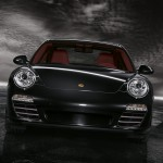 2011 Black Porsche 911 Targa 4S Wallpaper Front view