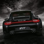 2011 Black Porsche 911 Targa 4S Wallpaper Rear view