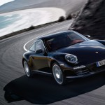 2011 Black Porsche 911 Targa 4S Wallpaper Front angle side view