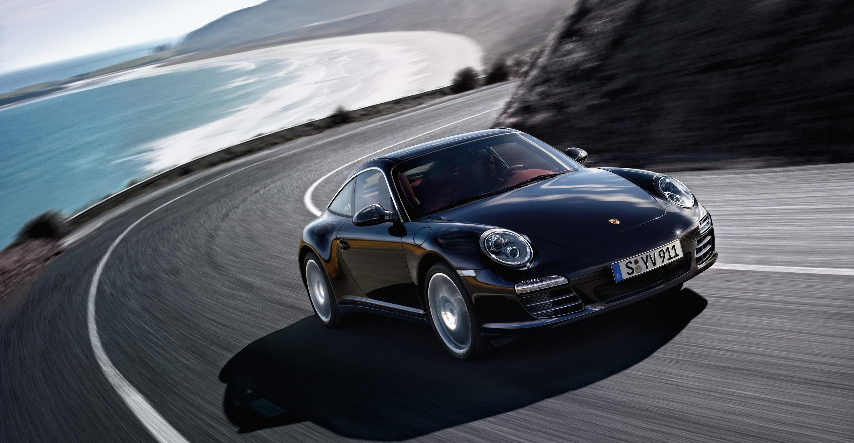 2011 black porsche 911 targa 4s wallpaper front angle side view - 911 Porsche Black