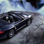 2011 Black Porsche 911 Turbo S Cabriolet Wallpaper Rear angle top view
