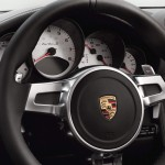 2011 Black Porsche 911 Turbo S Cabriolet Wallpaper Steering wheel