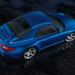 2011 Blue Porsche 911 Carrera 4S Cabriolet Wallpaper Side angle top view