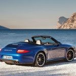 2011 Blue Porsche 911 Carrera GTS Wallpaper Rear angle side view