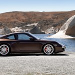 2011 Brown Porsche 911 Carrera S Wallpaper Side view