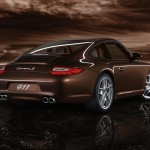 2011 Brown Porsche 911 Carrera S Wallpaper Rear angle view