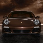 2011 Brown Porsche 911 Carrera S Wallpaper Front view
