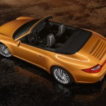 2011 Gold Porsche 911 Carrera 4 Cabriolet Wallpaper Rear angle top view