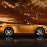 2011 Gold Porsche 911 Carrera 4 Cabriolet Wallpaper Side view