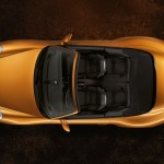2011 Gold Porsche 911 Carrera 4 Cabriolet Wallpaper Top view
