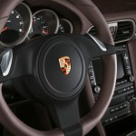 2011 Gold Porsche 911 Carrera 4 Cabriolet Wallpaper Interior Steering wheel
